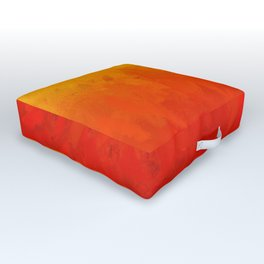 Scarlet and Gold Heat Outdoor Floor Cushion