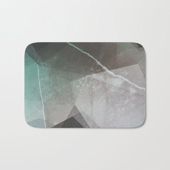 Marble Teal Layers Bath Mat