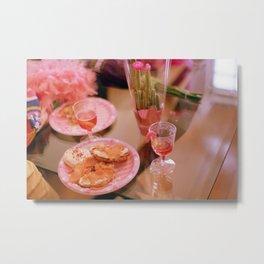 Pink Party Food Metal Print