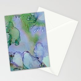 Abstract Blue Birds Stationery Cards