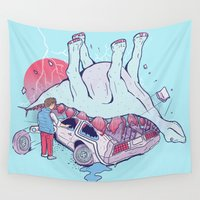 mcfly Wall Tapestries featuring Heavy by Dega Studios