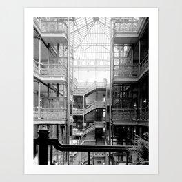 Bradbury Building, Downtown Los Angeles Art Print
