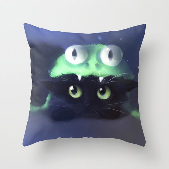 Team Frog Throw Pillow