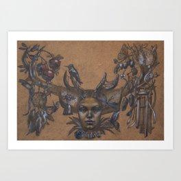 Dream Catcher & Wind Chime Art Print