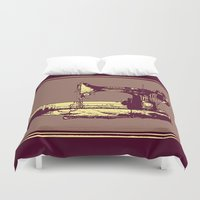 sewing Duvet Covers featuring Vintage Singer Sewing Machine by CLE.ArT.