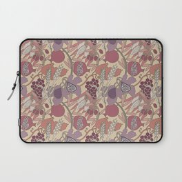 Seven Species Botanical Fruit and Grain in Mauve Tones Laptop Sleeve