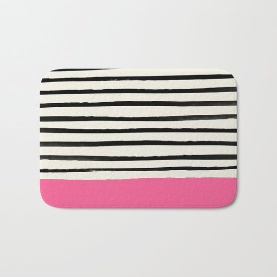 Watermelon & Stripes Bath Mat