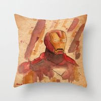 metal Throw Pillows featuring Metal by Sarah J