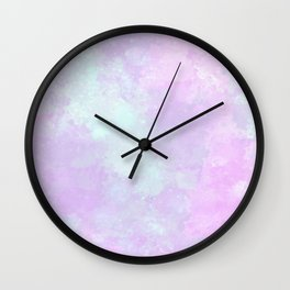 Cotton candy heaven Wall Clock