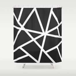 Black Earthquake Shower Curtain