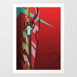 Crimson Aegis (Inspired by Xenoblade Chronicles 2) Art Print