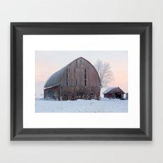 Soft Sunrise on a Winter's Morning Framed Art Print