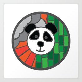 Panda & bamboo mosaic Art Print