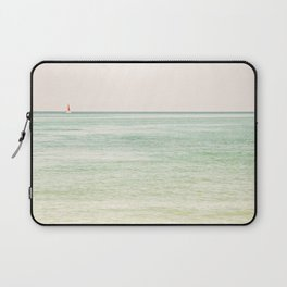 Nautical Red Sailboat Laptop Sleeve