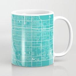 Fresno map turquoise Coffee Mug