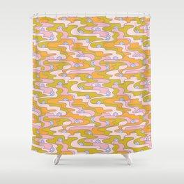 Psych Flower Shower Curtain