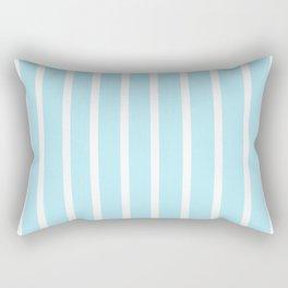 Baby Blue Striped art Rectangular Pillow