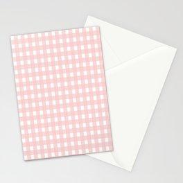 Rose Quartz Checkered Stationery Cards