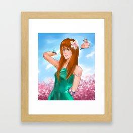Android OC Kira Digital Painting Framed Art Print