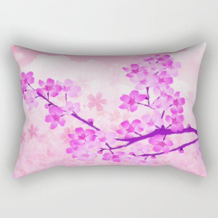 Cherry Blossom - Variation 4 Rectangular Pillow