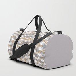 kimi - muted earth tones in native motif mosaic pattern Duffle Bag