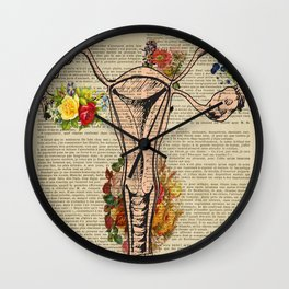 uterus, female, reproductive, system s Wall Clock