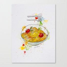 Pasta Basta Canvas Print