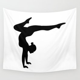 B&W Contortionist Wall Tapestry