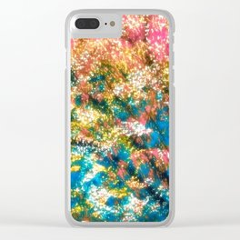 under the cherry tree Clear iPhone Case