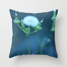 One More Wish (Blue) Throw Pillow