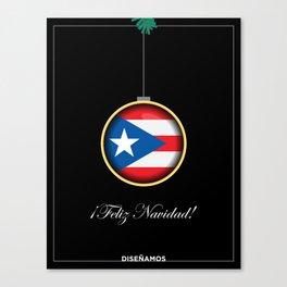 Feliz Navidad Puerto Rico Flag Canvas Print