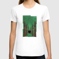 sasquatch T-shirts featuring Sasquatch in Trees by Ryan W. Bradley