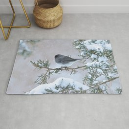 Snow Day Junco Rug