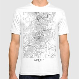 Austin White Map T-shirt