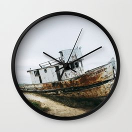 Point Reyes Boat Wall Clock