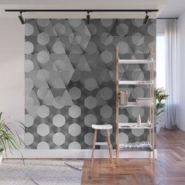 Circles on Triangles Shades of Gray Wall Mural