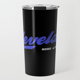Cleveland in Blue Travel Mug