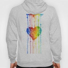 Rainbow Heart Watercolor Hoody