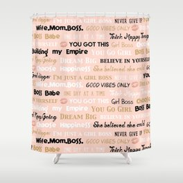 Boss Babe Good Vibes Only Shower Curtain