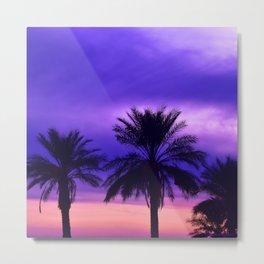 Palm Sunset - 6 Metal Print