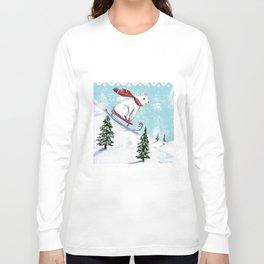 Sledding bear Long Sleeve T-shirt