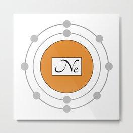 Neon - Bohr Model Metal Print