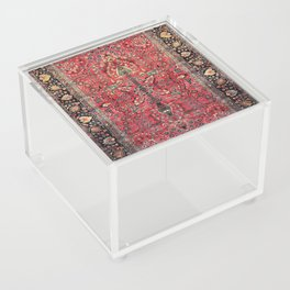 Antique Persian Red Rug Acrylic Box