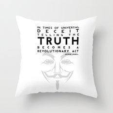 Truth Revolution Throw Pillow