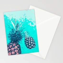 Pineapple Float Stationery Cards