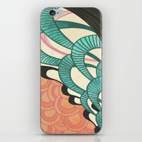 swim iPhone & iPod Skins featuring swim by Laura Graves