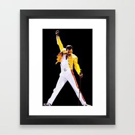Mercury Illustration Rock and Roll Music Icon Queen Pop Art Home Decor Framed Art Print