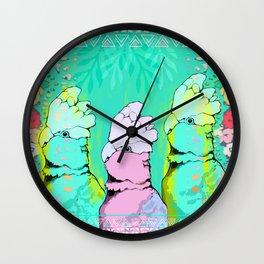 Springtime Galahs Wall Clock