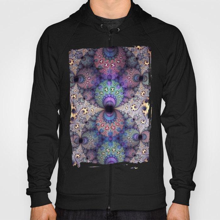Unending patterns in a fractal design Hoody
