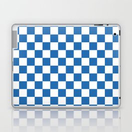 Gingham Azure Strong Blue Checked Pattern Laptop & iPad Skin